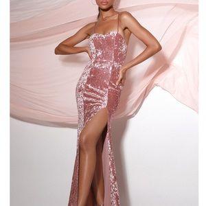 Simply Elegant Blush Pink Sequin Maxi